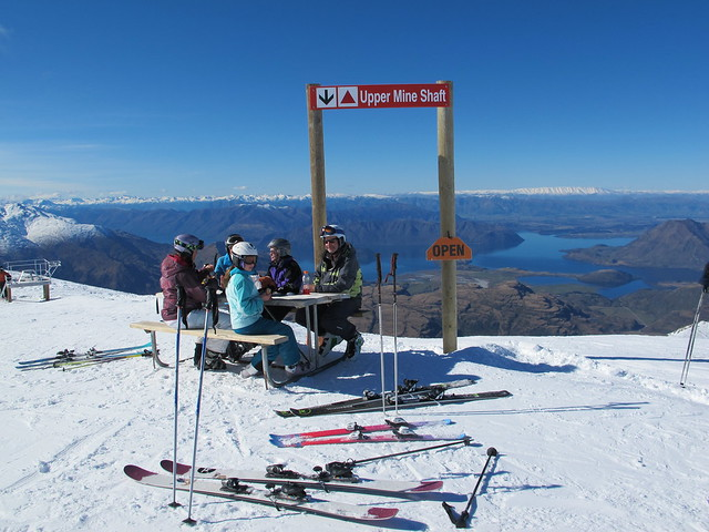 Tim's Table lunch - Treble Cone, Wanaka NZ (August 18 2014)