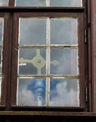 Koci p.w. witej Anny in Nowa Wioska (Neudrfel) / Kirche der heiligen Anna (Heidi St.) Tags: fenster polska polen holz okno fensterscheibe