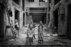 Tough girls (Jochem.Herremans) Tags: ladies girls urban building abandoned industry beautiful youth danger fun blackwhite european young posing boom lovely tough growingup thug steenbakkerij