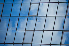 Sky Window (Bethany Mowat) Tags: city trip blue windows england sky white building london geometric window nature girl lines architecture clouds buildings landscape outdoors photography student shadows outdoor scottish highlights diagonal clear busy aberdeen straight rectangle surroundings 2015