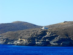 Greece ~ Kea ~ Lighthouse Tamelos 1 (M Lamprinos) Tags: sea summer lighthouse mountain island waves greece kea kythnos    tamelos