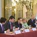 Encuentro empresarial Colombia y España, en el que empresas y expertos en materia económica y financiera discutieron la proyección de Colombia como potencia en Latinoamérica, celebrado el 2 de julio de 2015. Para más información: www.casamerica.es/economia/encuentro-empresarial-colombia...