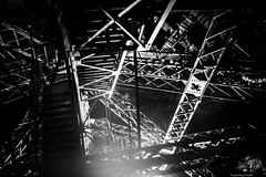 GRL1001553 Geometry....anyone (ogrhodeo) Tags: light tower metal architecture night dark french mechanical geometry steel engineering eiffel structure frame engineer beams lattice structural latice fixedfocal