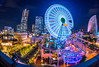 Panoramic night view of Minatomirai, Yok by aotaro, on Flickr