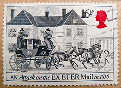great stamp Great Britain 16p historic stagecoach (Exeter Royal Mail attacked by lioness; 1816; Postkutsche, Diligence, Diligencia, , Postkoets, Diligens, , Diligenza, , Posta arabas) timbre UK United Kingdom England selo sello GB 16p (stampolina) Tags: uk greatbritain england horses horse history postes mail unitedkingdom kutsche lion exeter gb royalmail tem commonwealth postzegel diligence selo bolli geschichte sello diligencia sellos briefmarken frimrken  francobollo selos timbres postkutsche frimrker 1816 mailcoach  francobolli bollo  postkoets znaczki markica   perangko frimerker diligens pullar diligenza timbru  grosbritannien    blyegek  antspaudai raztka   postaarabas