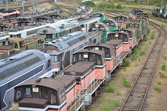 SNCF Withdrawn Locomotives (Will Swain) Tags: travel france les yard train de french europe north transport july rail railway des 330 east rouen le works depot 300 12th railways franais socit parisian locomotives fer withdrawn nationale marshalling 2015 triage chemins sotteville sottevillelsrouen