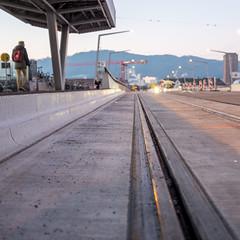 Morning@Hardbruecke: the new tram (3/3) (jaeschol) Tags: europa hardbruecke kantonzürich kontinent kreis5 morgen morning schweiz stadtzürich switzerland zeit zürich ch