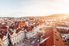 Prague Rooftops Sunset (Ayman El Khamkhami) Tags: prague praha czech republic rooftops foofs roof brick baroque architecture sunset travel photography old town hlavni mesto square