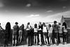 Ecoliers au Mont Saint-Michel, France (Etienne Ehret) Tags: ecoliers mont saintmichel france normandie noir noirblanc blanc bw black white people personnes street rue canon 5d mark iii 1740mm sériel f4