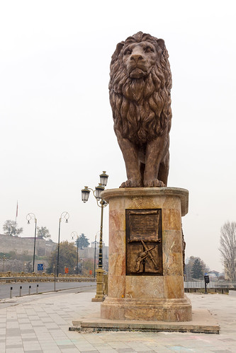 Lion Statue - Goce Delchev Bridge