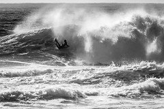 SKA_1996-3 (lenseviews.com) Tags: za southafrica bodyboarder boadyboard surf wave ocean sea blackwhite inmotion