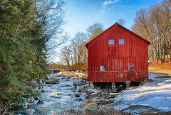 The-Red-Barn (desouto) Tags: nature hdr landscape trees ponds reserviors lakes sky color autumn leaves wildfilowers road forest rivers wildflowers clouds snow waterfall