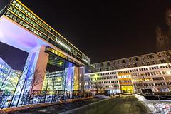 Medienbrücke - München (ME Photography (Moritz Escher)) Tags: medienbrücke münchen munich longexposure langzeitbelichtung langenachtderarchitektur canoneos50d canon canon1018mm nachtaufnahme nightphotography night lights light lichter weitwinkel wideangle
