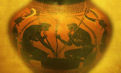 "Petteia - Ludus Latrunculorum  / Iconografía de las civilizaciones helenolatinas • <a style=""font-size:0.8em;"" href=""http://www.flickr.com/photos/30735181@N00/31678492324/"" target=""_blank"">View on Flickr</a>"