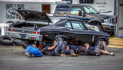 Yeah, its broke! (Paul Rioux) Tags: auto automotive vehicle transportation chevrolet nova drag racing westernspeedway sislra southislandstraightlineracingassociation