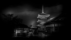 Kiyomizu-dera II (清水寺) (Gerald Ow) Tags: geraldow sony a7r2 a7rii fe 2470mm f28 gm gmaster japan kyoto kiyomizudera 清水寺 long exposure bw black white temple ilce7rm2 flickr 日本 京都 buddhist