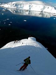Skiing towards the Ocean