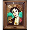 My portrait of a Sicilian actress on a found mirror with metal frame from the cover of a National Geographic #oilpainting #portrait #sicily #theatre #actress #portraiture #natgeo #italy #sicilia #italia #drama https://www.instagram.com/p/BPDfeLkl0ll/ www. (zitozone) Tags: portrait painters artists artist painter art portraits painting faces fine modern portraiture contemporary