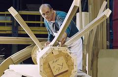 Venables' restoration of St George's Chapel, Windsor Castle (VenablesOak) Tags: joiner craftsman venables restoration column windsorcastle oak wood corbel fanvaulting maker