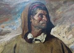 """""""Berger des montagnes de Castille"""", détail, 1868, Henri Regnault (1843-1871), Musée des beaux-Arts, Pau, Béarn, Pyrénées Atlantiques, Aquitaine, France."""