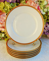 Antique Haviland Limoges Porcelain Luncheon Plates ~ White ~ Gold (Donna's Collectables) Tags: antique haviland limoges porcelain luncheon plates ~ white gold