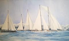 Porto Cervo Regatta - Historical Sailing Competition (Tommaso Manzi Watercolour) Tags: tommaso manzi tommasomanzi acquerello watercolor regata regatta portocervo sailing