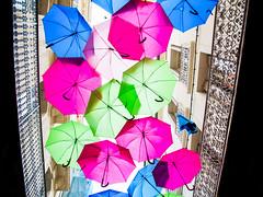 It's sunny (Claude Maire) Tags: urbain urban umbrella parapluie beziers herault france