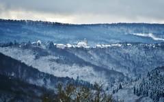 ~~ Le village perché dans le froid...~~ (Joélisa) Tags: village blamont froid monts hills forêt sapins givre gel paysage janvier2017