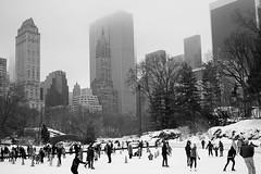 Central Park Skating Rink (Meine Sicht) Tags: 2tag 2015 35mm bergischgladbach bw centralpark city eisbahn fotokunst leicam nyc newyork people rauen sw usa winter zeissdistagont1435zm manhattan monochrom schwarzweiss wwwrauenfotode icerink distagon3514zm