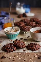 IMG_9026_exp-2 (Helena / Rico sin Azúcar) Tags: chocolate cookie galleta muesli butter mantequilla vanilla vainilla bran oats cereales cacao cocoa dessert food comida postre