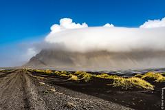 Iceland - Vestrahorn in clouds (Henk Verheyen) Tags: ijsland iceland vestrahorn autumn buiten herfst landscape landschap nature natuur outdoor outsite is stokknes clouds wolken marram grass helm gras