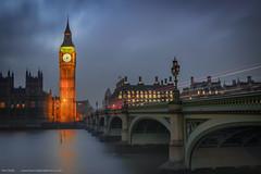 Houses of parliament at dusk (hiannieo) Tags: dusk hofp londontrip longexpsoure lighttrails bigben london