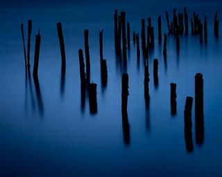 Blue Hour Pilings