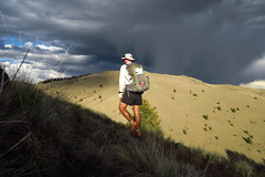 Afternoon thunderstorm while hiking up Mt. Taylor.