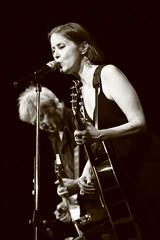 Suzanne Vega - live @Bluenote (Milan) (KikoPhotos) Tags: italy milan sepia play guitar live gig july suzanne acoustic vega bluenote 2015