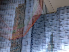 """Boston Greenway - """"As If It Were Already Here""""  2 (mahler9) Tags: city summer urban reflection glass boston architecture publicart jaym 2015 mahler9"""