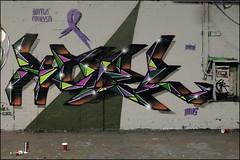 Koel (Alex Ellison) Tags: urban graffiti boobs waterloo halloffame graff hof koel paintjam thetunnel southeastlondon leakestreet battlecancer