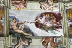Adam receives life - Michelangelo (Jan Voorhaar) Tags: rome adam michelangelo sistinechapel