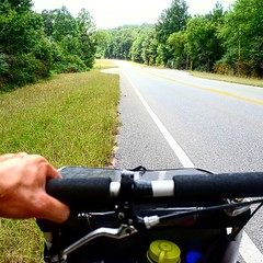 One hand on, one hand free. On Rt. 31 outside of Evergreen, AL. #TheWorldWalk #travel #al #twwphotos