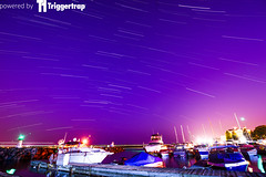 Prescott Marina (photothiel) Tags: light ontario canada st night marina river dark stars boats lawrence long exposure prescott startrails triggertrap photothiel