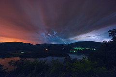 Lightning (mudpig) Tags: statepark park longexposure cloud color colour reflection night river outdoors photography scenic bearmountain license bolt hudsonriver thunderstorm lightning overlook cloudscape gettyimages colourscape scenicoverlook bearmt bearmountainstatepark colorscape mudpig stevekelley stevenkelley licensenow