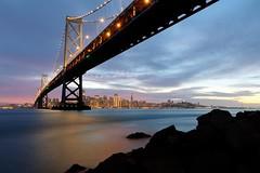 Yerba Buena View (n8sk8) Tags: baybridge sanfrancisco night sunset california bayarea norcal northerncalifornia water sanfranciscobay yerbabuenaisland yerbabuena treasureisland
