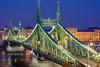 Budapest, Liberty Bridge (Laszlo Horvath 1,5 M+ views tx :)) Tags: szabadság híd liberty bridge budapest hungary nikond7100 nikon50mmf18g bluehour duna danube