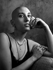 Julia Bartol (Jose Esteve Photography) Tags: analog film mediumformat mamiyarz67 ilford fp4 studio strong woman portrait blackandwhite