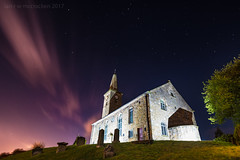 Markinch Parish Church (ianrwmccracken) Tags: cloud wideangle blue fife building nikon parish pink markinch night sky nikkor1635mm scotland star longexposure church