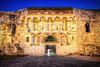 Split City Wall (NicoTrinkhaus) Tags: split castle city wall old medeival massive enlightened bluehour bluesky bright entrance