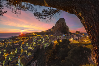 Caltabellotta at sunset.