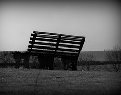 Isolation (janano2010) Tags: bench isolated bw seat middleofnowhere drops water rainy