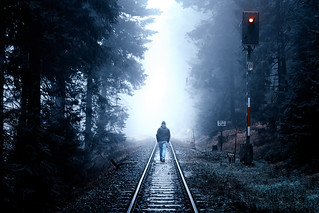 Walking alone into the light