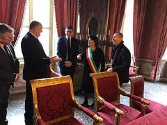 Casale Monferrato, 22/01/2017, Visita del Viceministro dell'Interno albanese Stefan Çipa presso il Municipio